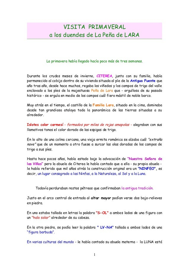 Primavera en peña lara (burgos) (12 páginas)