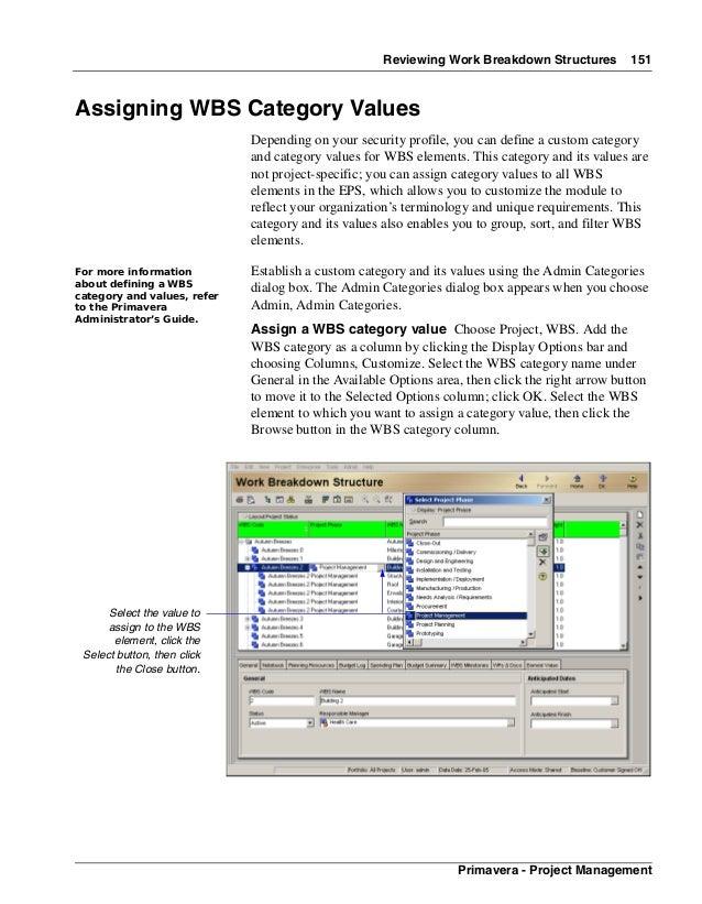 primavera p6 project management reference manual part7 rh slideshare net primavera project manual Primavera Project Planner P3