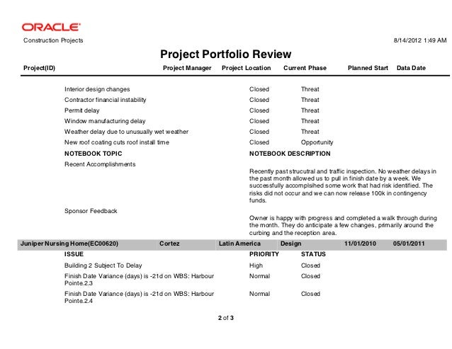 Primavera P Reports Tab Samples - Interior design invoice examples