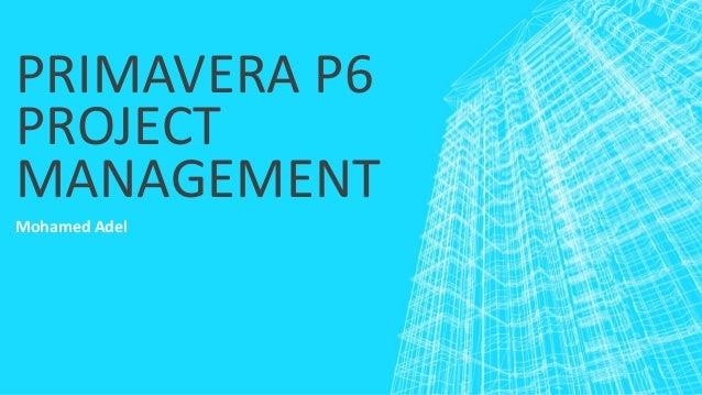PRIMAVERA P6 PROJECT MANAGEMENT Mohamed Adel