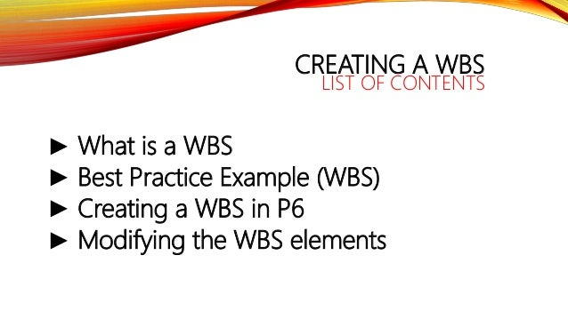 Primavera training 03 - Creating a WBS (Work Breakdown