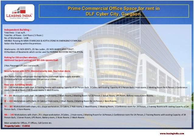 Prime Commercial Office Space for rent in                                                                            DLF C...