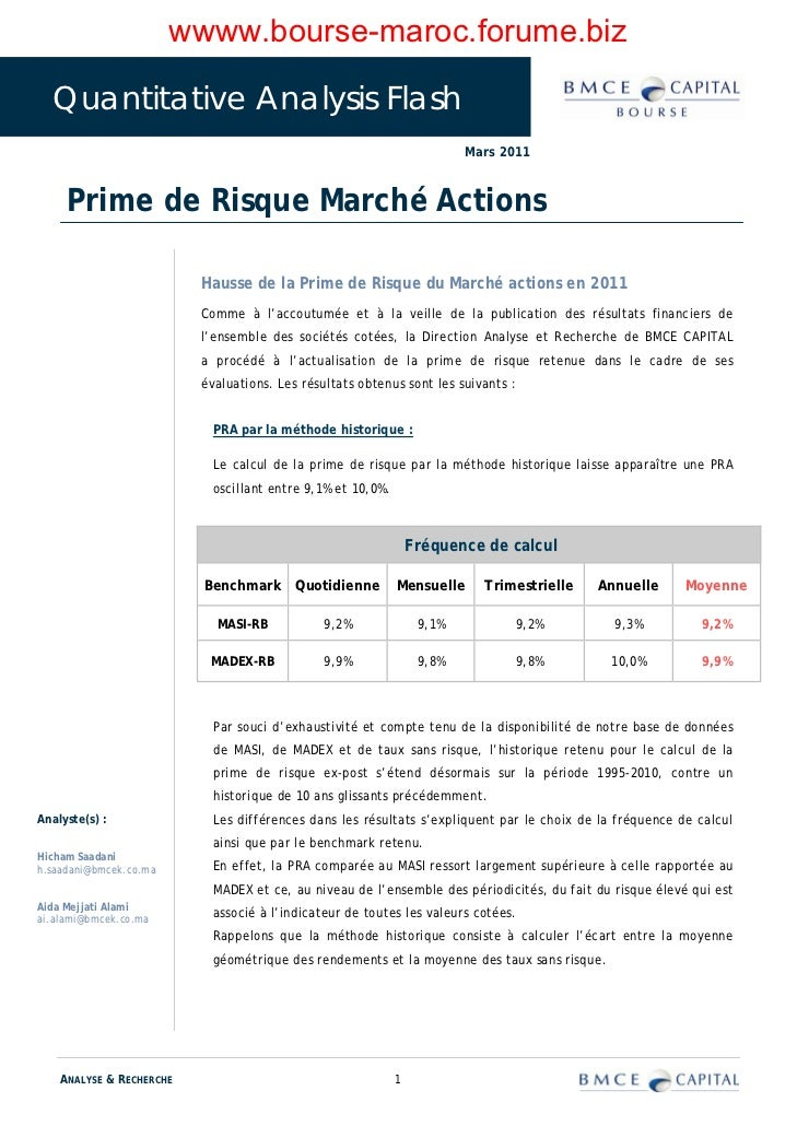 wwww.bourse-maroc.forume.biz  Quantitative Analysis Flash                                                                 ...