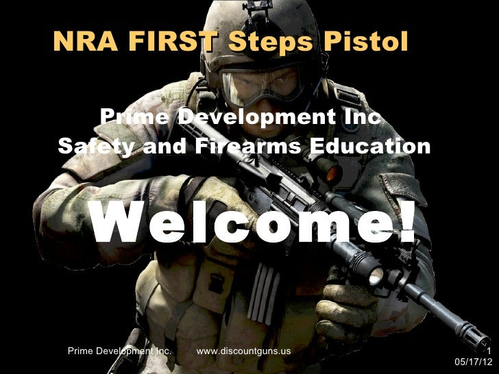 NRA FIRST Steps Pistol   Prime Development IncSafety and Firearms Education    Welcome!Prime Development Inc.   www.discou...