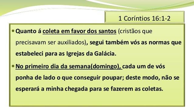Primeira carta aos corintios 16 Slide 2