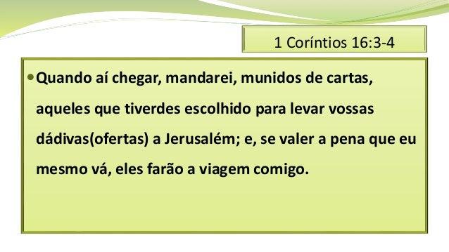 Primeira carta aos corintios 16 Slide 3