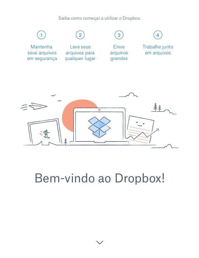 1 2 3 4 Bem-vindo ao Dropbox! Mantenha seus arquivos em segurança Leve seus arquivos para qualquer lugar Envie arquivos gr...