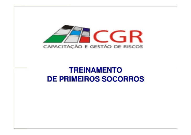 TREINAMENTODE PRIMEIROS SOCORROS