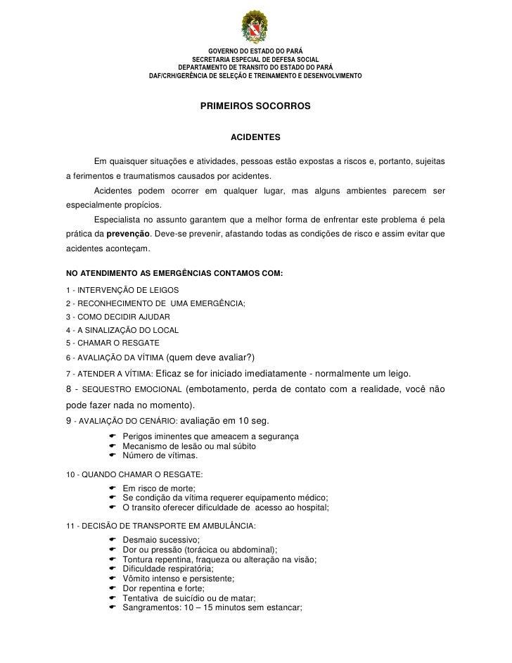 GOVERNO DO ESTADO DO PARÁ                                 SECRETARIA ESPECIAL DE DEFESA SOCIAL                            ...
