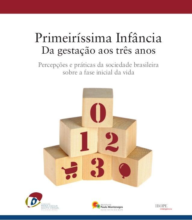 Primeiríssima Infância Da gestação aos três anos Percepções e práticas da sociedade brasileira sobre a fase inicial da vida