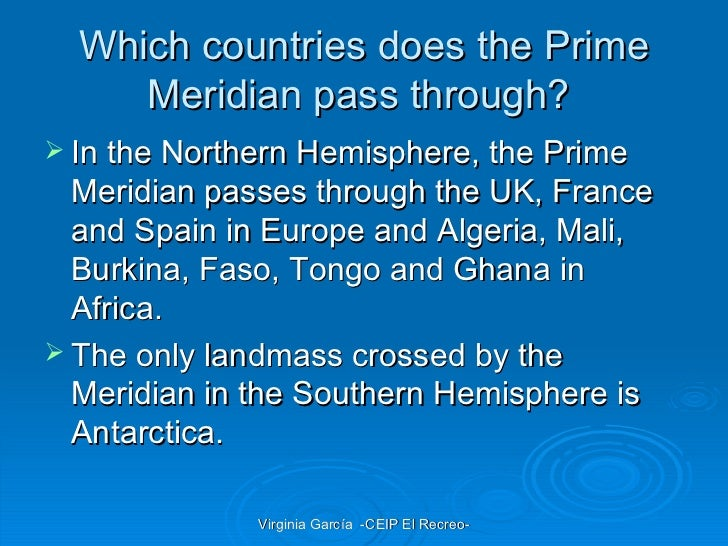 Charming ... 8. Which Countries Does The Prime Meridian ...