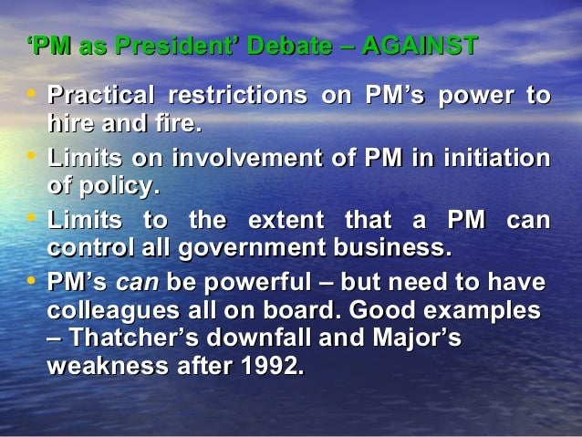 Does the prime minister have too much power