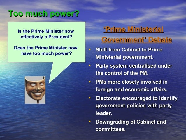 The powers of the Prime Minister