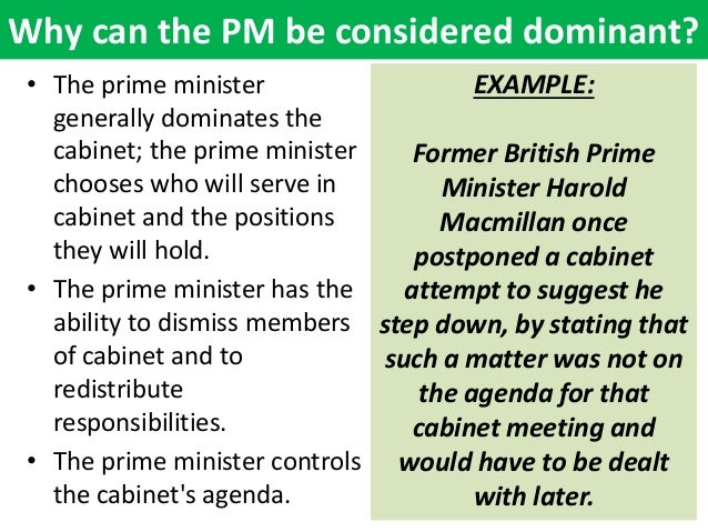 Prime ministerial government thesis