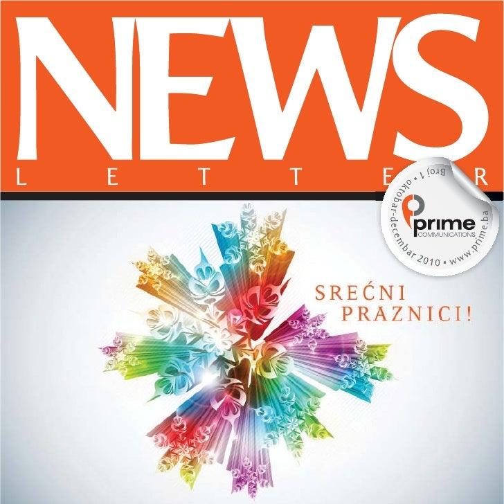 L   E   T   T              E                            R                1   NEWSLETTER | PRIME COMMUNICATIONS