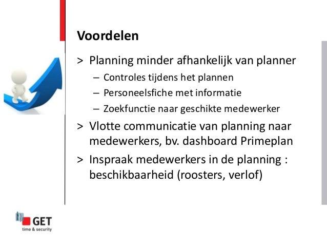 > Planning minder afhankelijk van planner – Controles tijdens het plannen – Personeelsfiche met informatie – Zoekfunctie n...