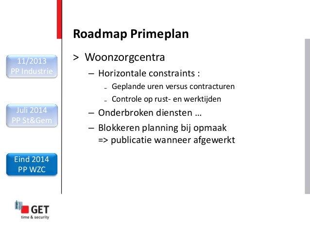 > Woonzorgcentra – Horizontale constraints : ₋ Geplande uren versus contracturen ₋ Controle op rust- en werktijden – Onder...