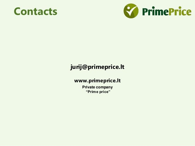 Prime price (now PriceOn) pitch