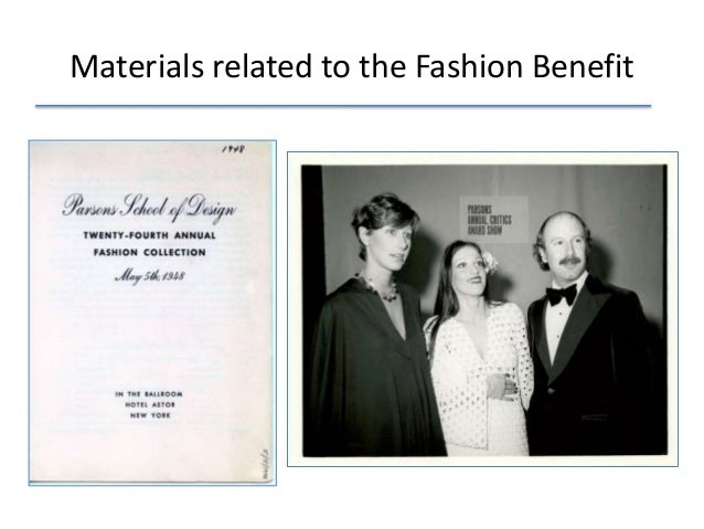 Materials related to the Fashion Benefit