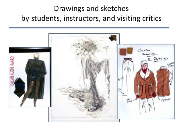Drawings and sketches by students, instructors, and visiting critics