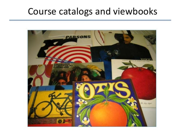 Course catalogs and viewbooks