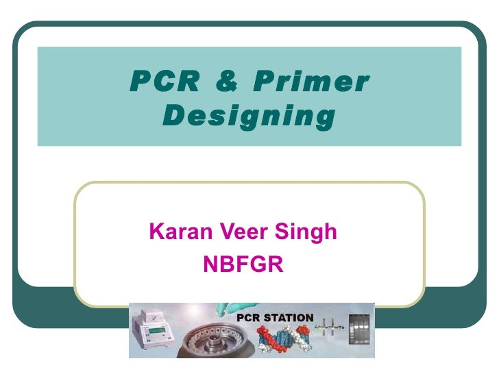 PCR & Primer DesigningKaran Veer Singh    NBFGR