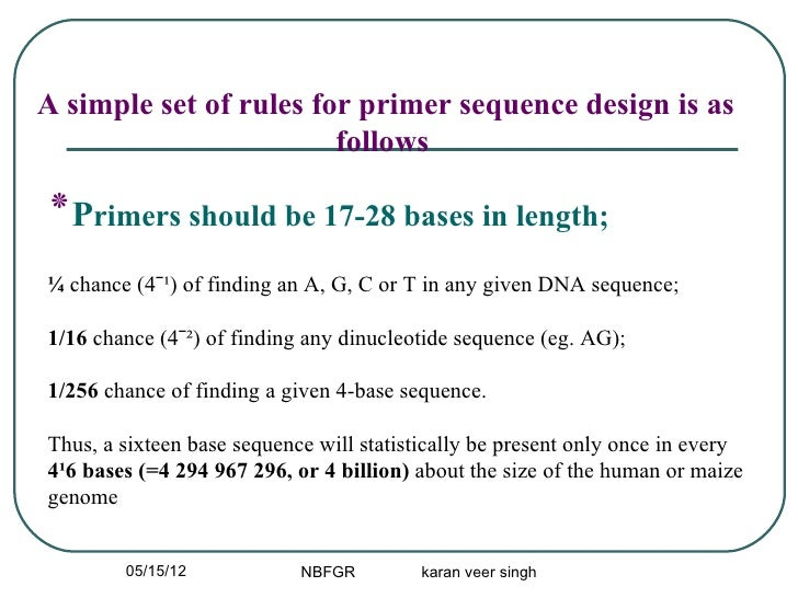 PCR Primer desining