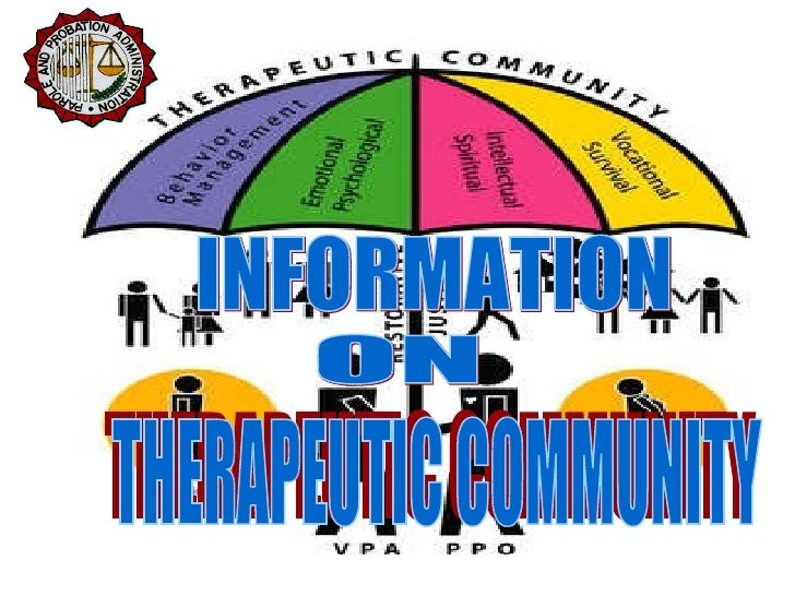 INFORMATION  ON THERAPEUTIC COMMUNITY