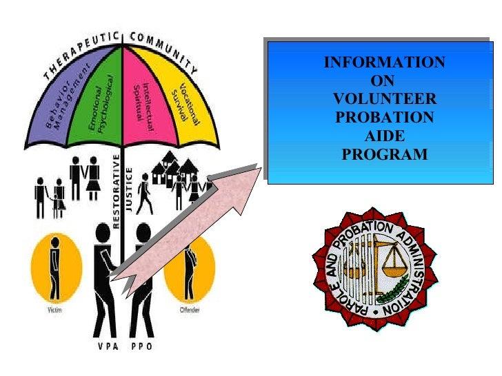 INFORMATION ON  VOLUNTEER PROBATION AIDE PROGRAM