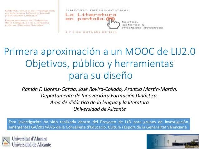 Primera aproximación a un MOOC de LIJ20 Gretel2014 slideshare - 웹