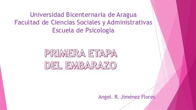 Universidad Bicenternaria de Aragua  Facultad de Ciencias Sociales y Administrativas  Escuela de Psicologia  Angel. R. Jim...