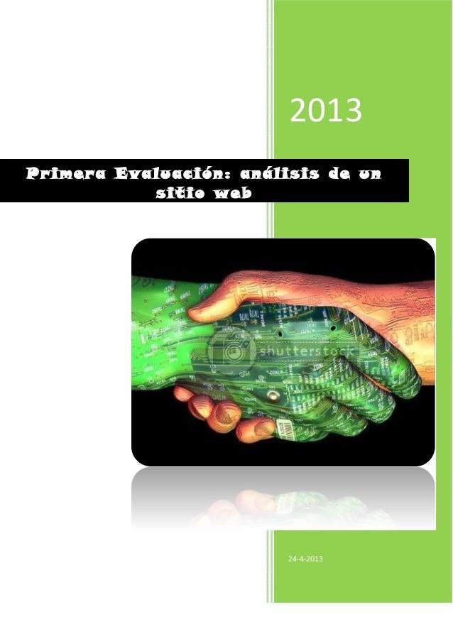 2013Jennifer Sánchez , Gimena Silva24-4-2013Primera Evaluación: análisis de unsitio web