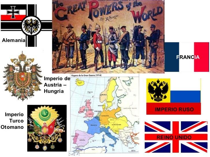 Alemania Imperio de Austria – Hungría Imperio Turco Otomano F RANC IA IMPERIO RUSO REINO UNIDO