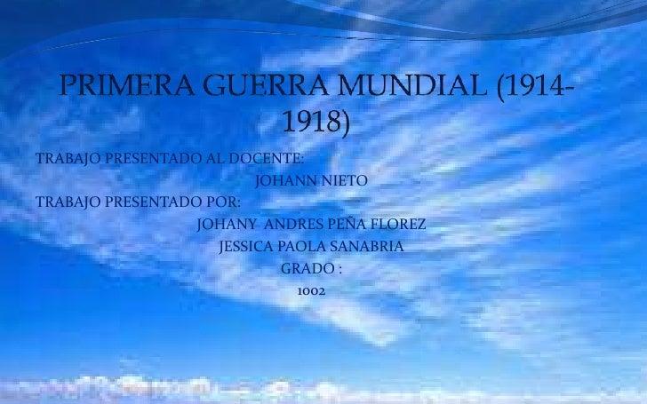 TRABAJO PRESENTADO AL DOCENTE:                         JOHANN NIETOTRABAJO PRESENTADO POR:                  JOHANY ANDRES ...