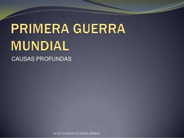 CAUSAS PROFUNDAS © 2013 HORACIO RENE ARMAS