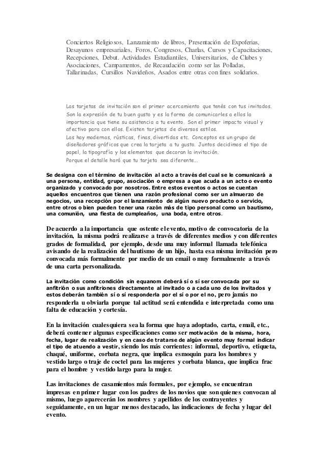 Ejemplos De Tarjetas De Invitacion A Eventos Empresariales