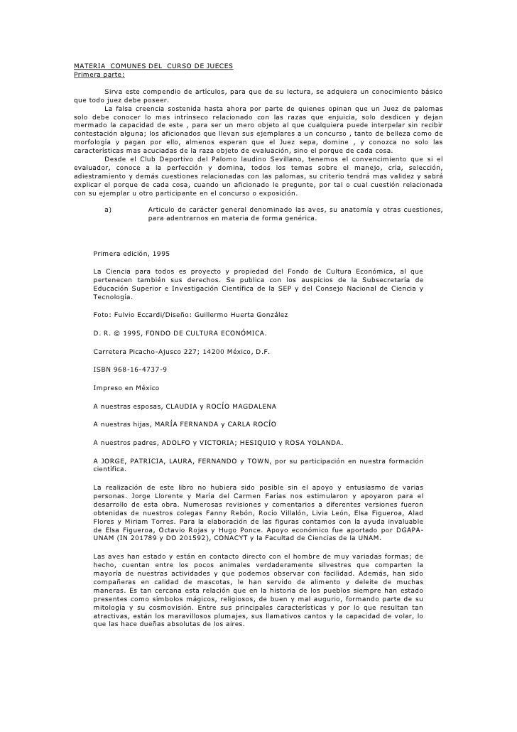 MATERIA COMUNES DEL CURSO DE JUECES Primera parte:           Sirva este compendio de artículos, para que de su lectura, se...