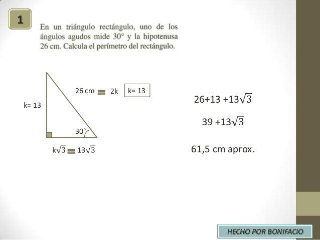 1  26 cm  2k  k= 13  k= 13 30°  61,5 cm aprox.  HECHO POR BONIFACIO
