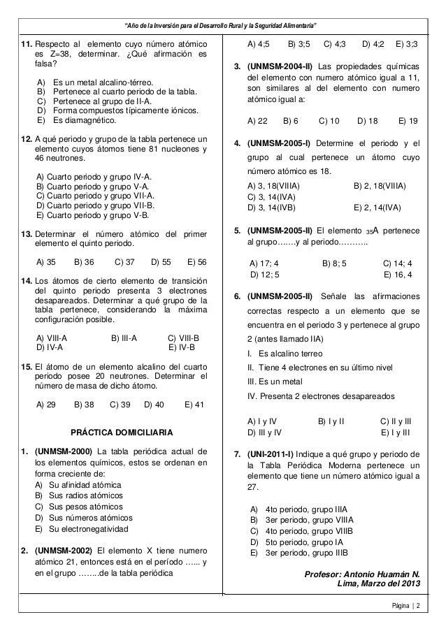 Prctica de tabla peridica 2 urtaz Images
