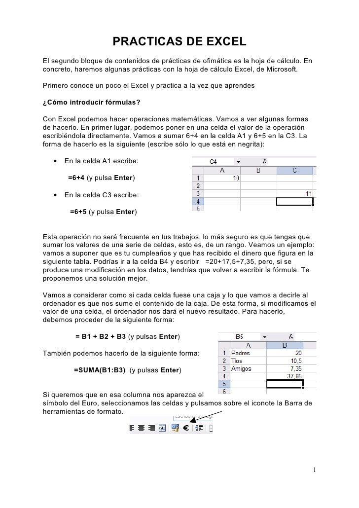Primera practica Excel 2007