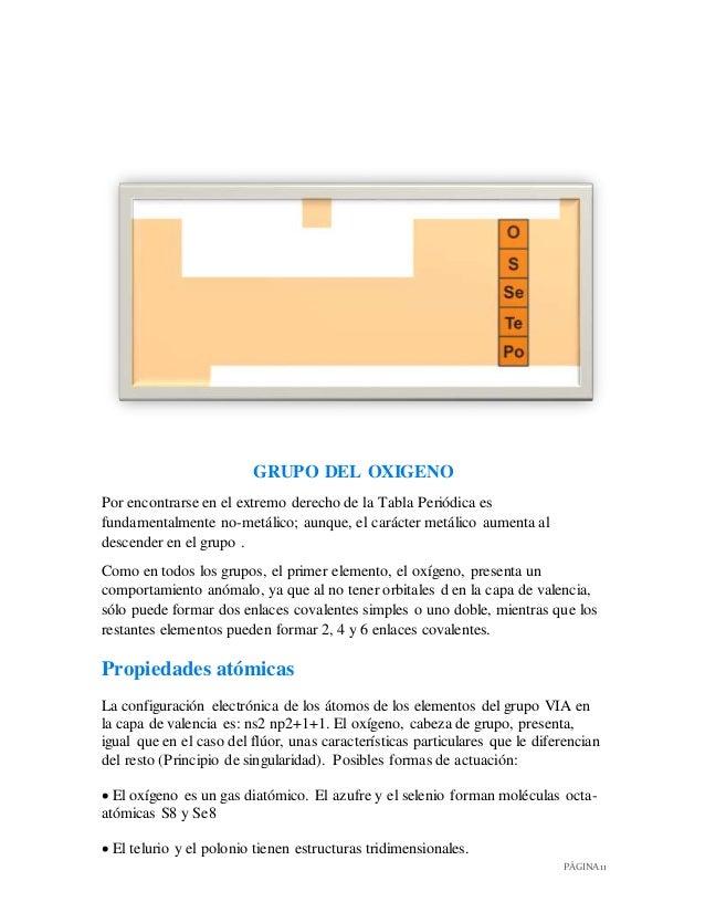 Informe de algunos elementos de la tabla peridica 12 pgina 11 grupo urtaz Gallery