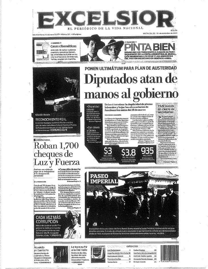 Primeras Planas 18nov2009