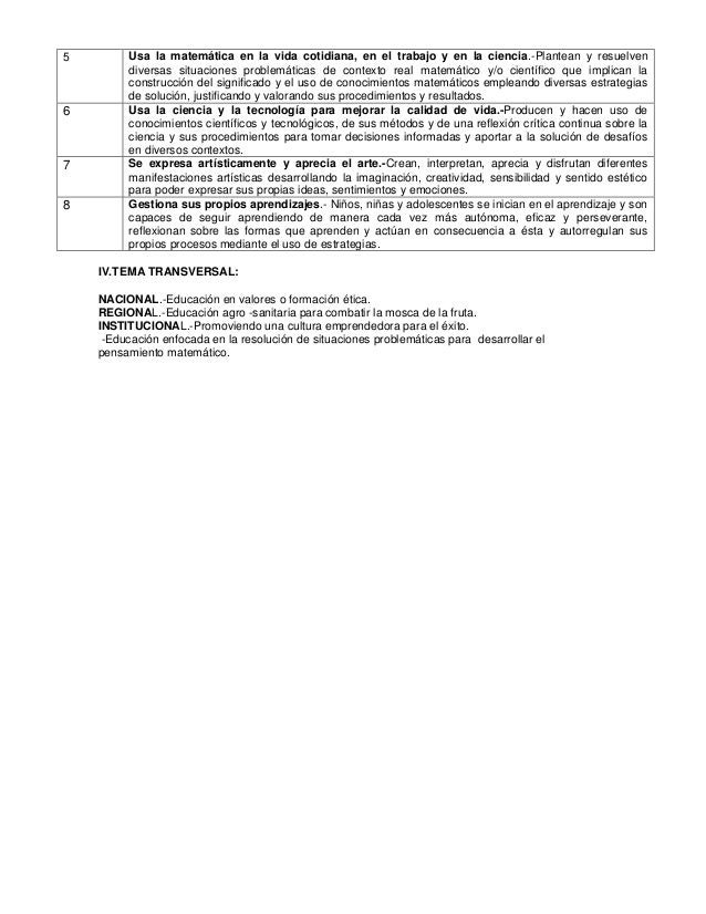 UNIDADES DE APRENDIZAJE DE CUARTO GRADO SECUNDARIA - 2014 Slide 2