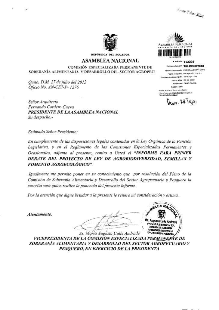 ^ A M B ! HA N A C I O N A L                                        REPÚBLICA DEL ECUADOR                        IIlililí ...