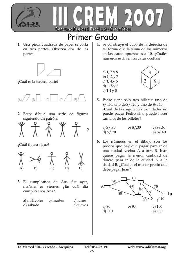 Examen Primer Grado III CREM Slide 2