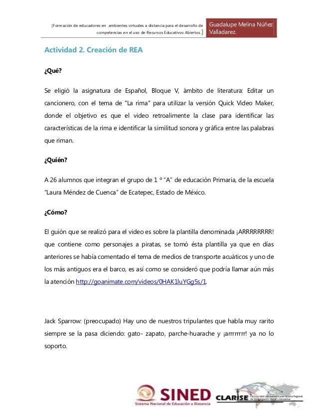 [Formación de educadores en ambientes virtuales a distancia para el desarrollo de   Guadalupe Melina Núñez                ...