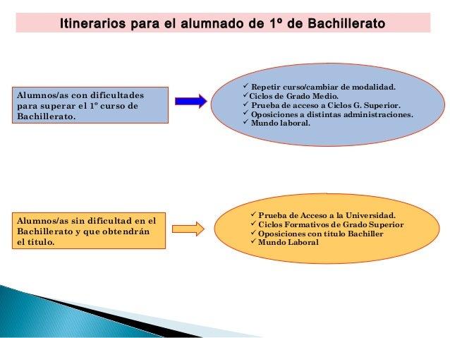 ¿Qué hacer después de 1º de Bachillerato? Slide 2