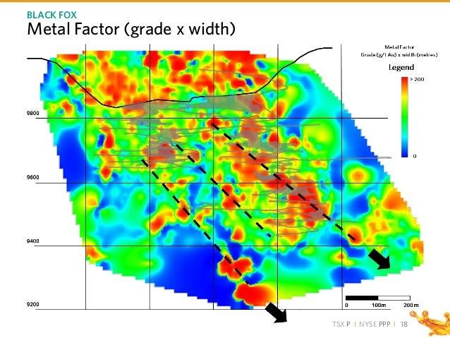 TSX P I NYSE PPP I Metal Factor (grade x width) BLACK FOX 18