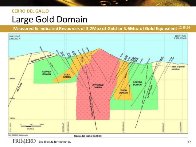 Measured & Indicated Resources of 3.2Moz of Gold or 5.6Moz of Gold Equivalent 12,13,14 See Slide 21 for footnotes. CERRO D...