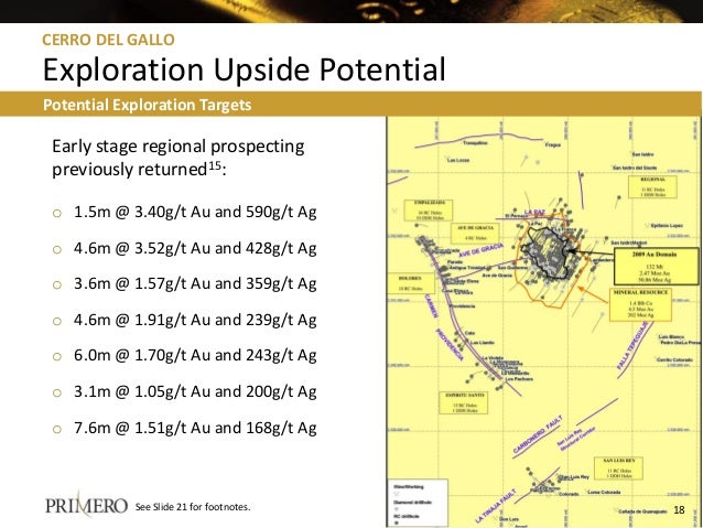 Early stage regional prospecting previously returned15: o 1.5m @ 3.40g/t Au and 590g/t Ag o 4.6m @ 3.52g/t Au and 428g/t A...
